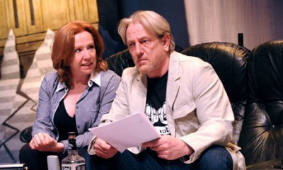 'An old-fashioned piece of entertaining' ... Melanie Hill and Mark Wingett in Maggie's End. Photograph: Tristram Kenton