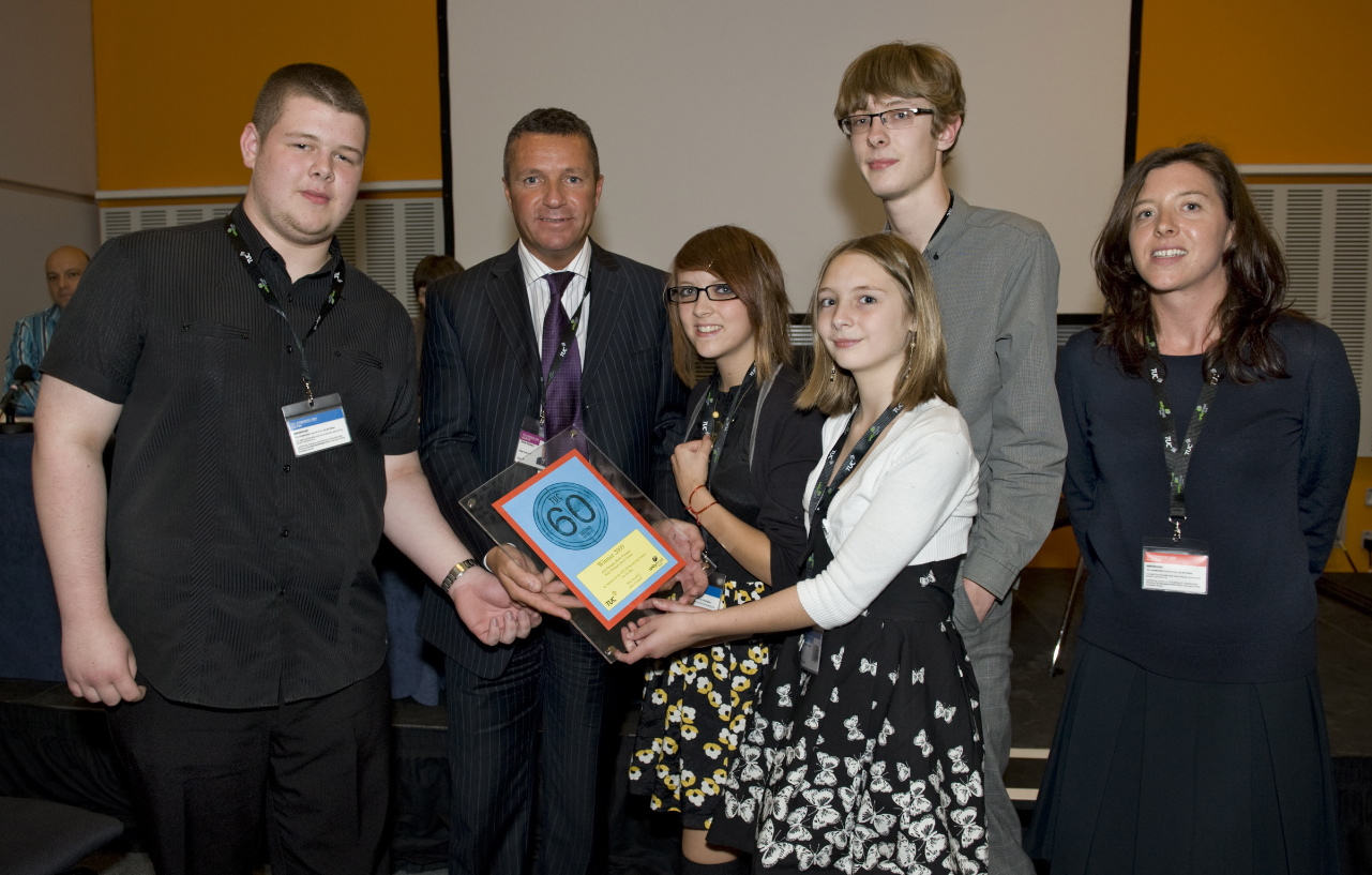 James Christie, Sean, Ruby and Bridie Flanagan of Chesterfield High School