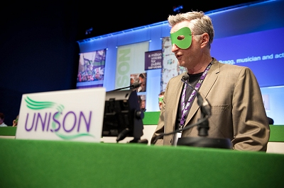 Billy Bragg at UNISON conference