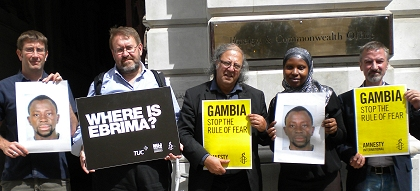 protest at Gambian High Commission