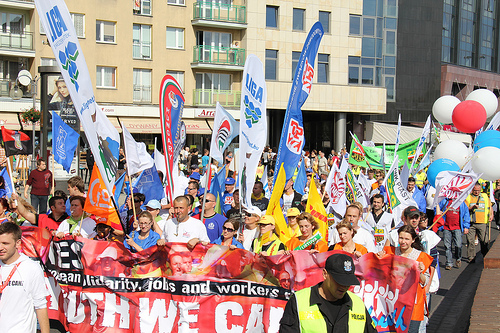 Wroclaw march. Photo: ETUC