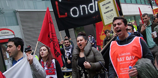 London May Day marchers