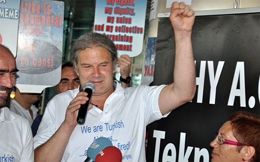 Turkish Airlines workers' protest