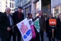 GMB and Unite trade unionists join Labour's Stephen Hughes MEP in Brussels