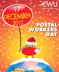 Poster for CWU Postal Workers Day - 17 Dec 2012