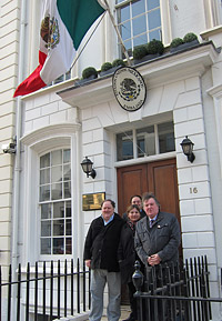 Delegation at the Mexican Embassy in London