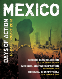 Mexico days of action poster