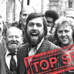 Des Warren, Ricky Tomlinson and supporters