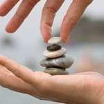 Image of pebbles balancing on top of each other