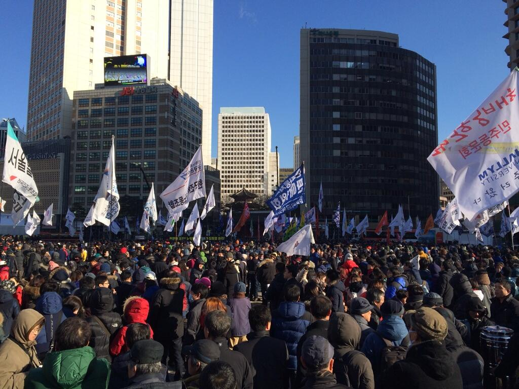 Protests in Korea