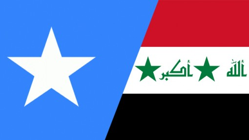 flags of Somalia and Iraq