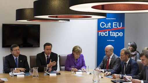 David Cameron addresses a meeting on the European Commission REFIT. Photo: Chancellery of the Prime Minister of Poland