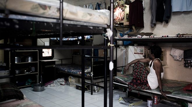 Living quarters for migrant workers in Qatar