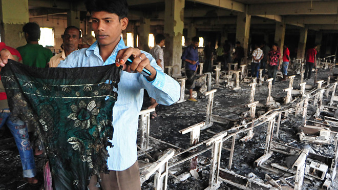 Tazreen factory fire aftermath