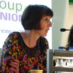 A photo of Frances O'Grady speaking on the panel at the TUC Women's Conference 2014