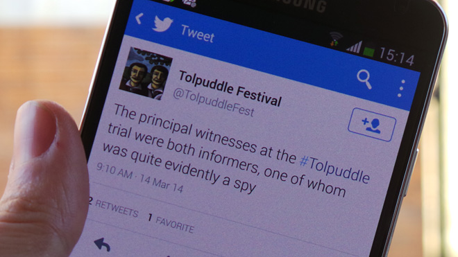 Tolpuddle tweets