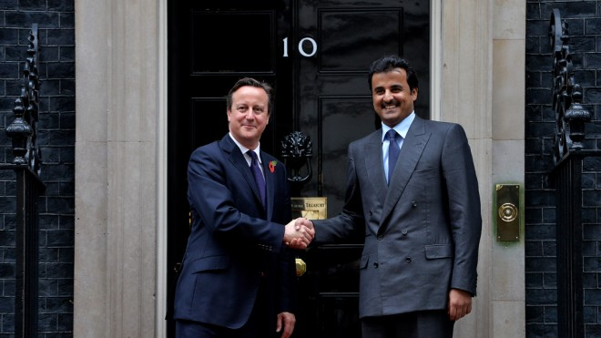 The Emir of Qatar with David Cameron