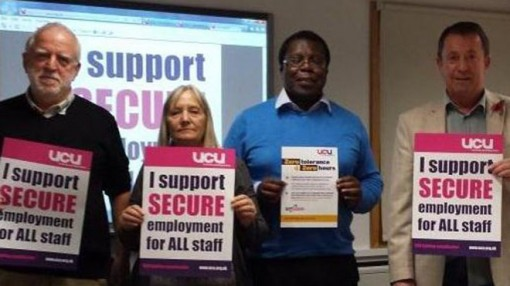 University of Sunderland preparing materials for Anti Casualisation day on 5th Nov 2014