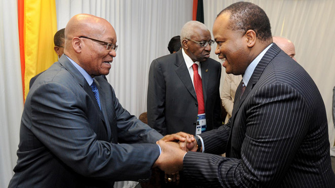 Mswati III and Zuma