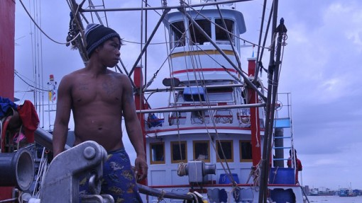 Migrant workers working on a Thai boat