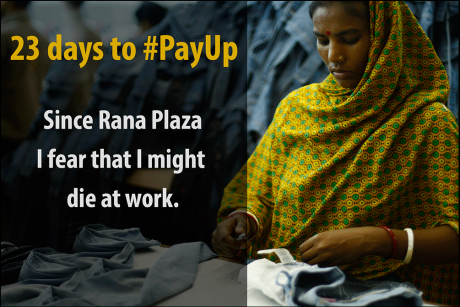 23 days for companies to pay into the Rana Plaza compensation fund. Image: IndustriALL