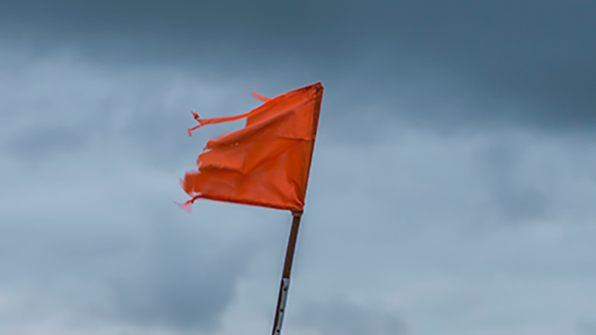 Red flag in a storm