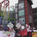 Immigration Street protest in January outside Channel 4 headquarters in London