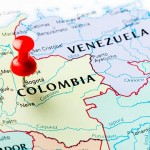 Colombia on map