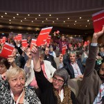 Delegates voting at ETUC Congress 2015. Photo Eric Luntang / ETUC