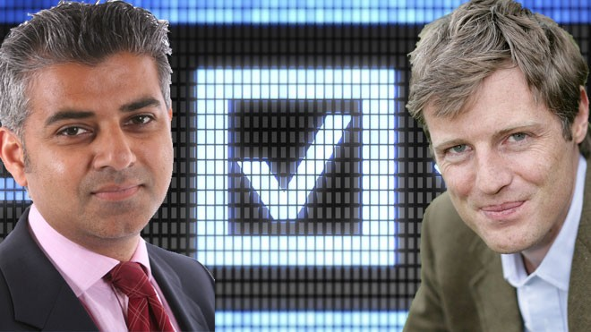 Sadiq Khan and Zac Goldsmith