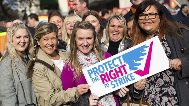 Protect the right to strike