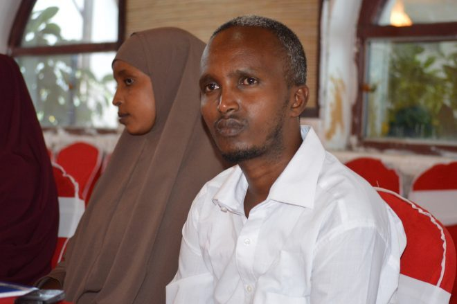 Abdiasis Mohamed Ali at a union Gender Workshop