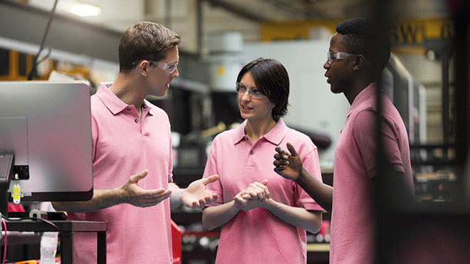 Young workers in manufacturing