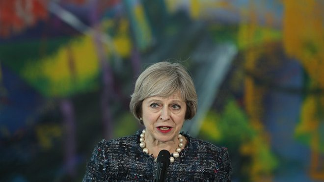 Theresa May. Photo by Sean Gallup/Getty Images