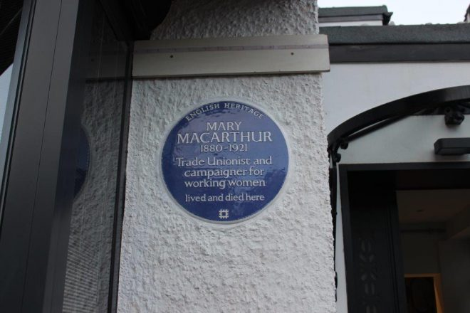 Mary Macarthur blue plaque