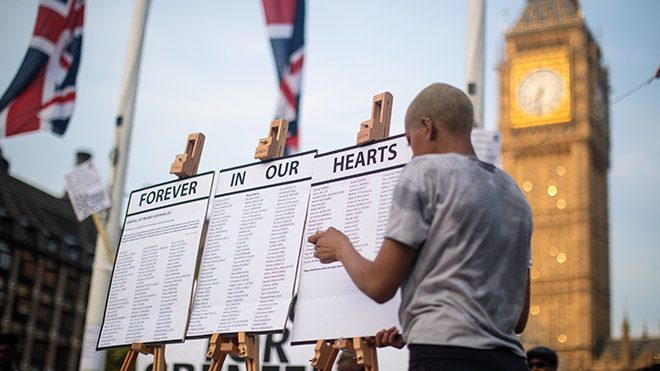Grenfell Tower vigil